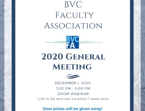 BVCFA 2020 Virtual GM